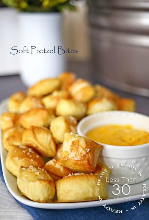 Game Day Snacks - Soft Pretzel Bites