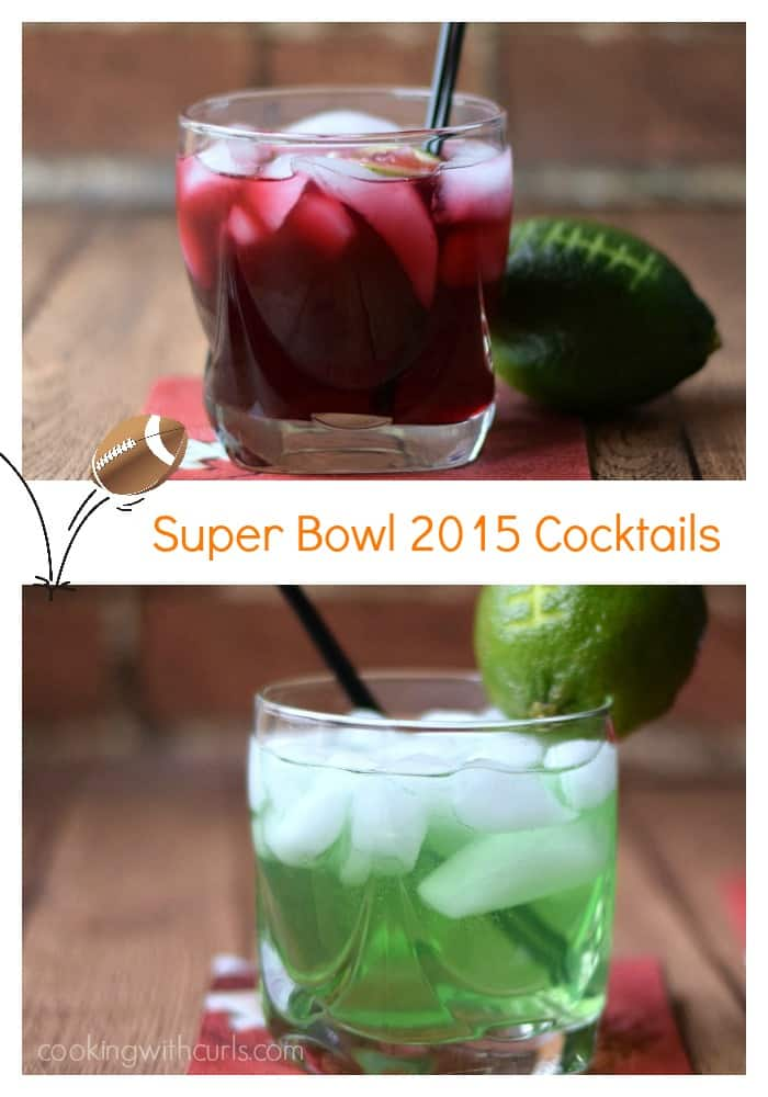 Super Bowl 2015 Cocktails - Seahawks vs Patriots | cookingwithcurls.com