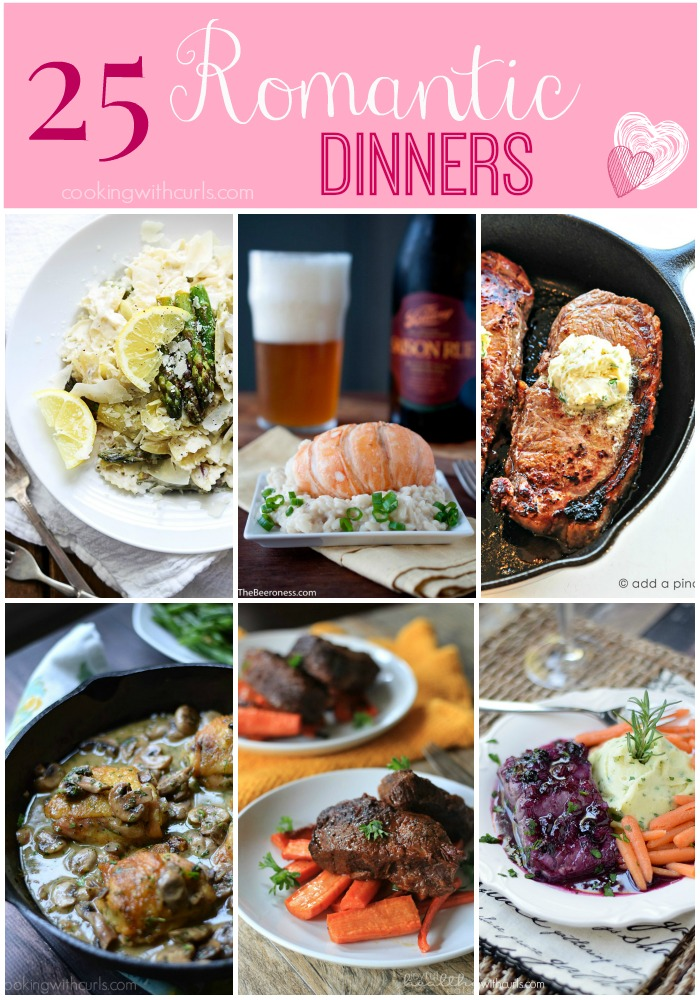 25 Romantic Dinners that are perfect for any special occasion cookingwithcurls.com