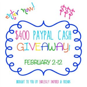 $400 PayPal Cash Giveaway| cookingwithcurls.com
