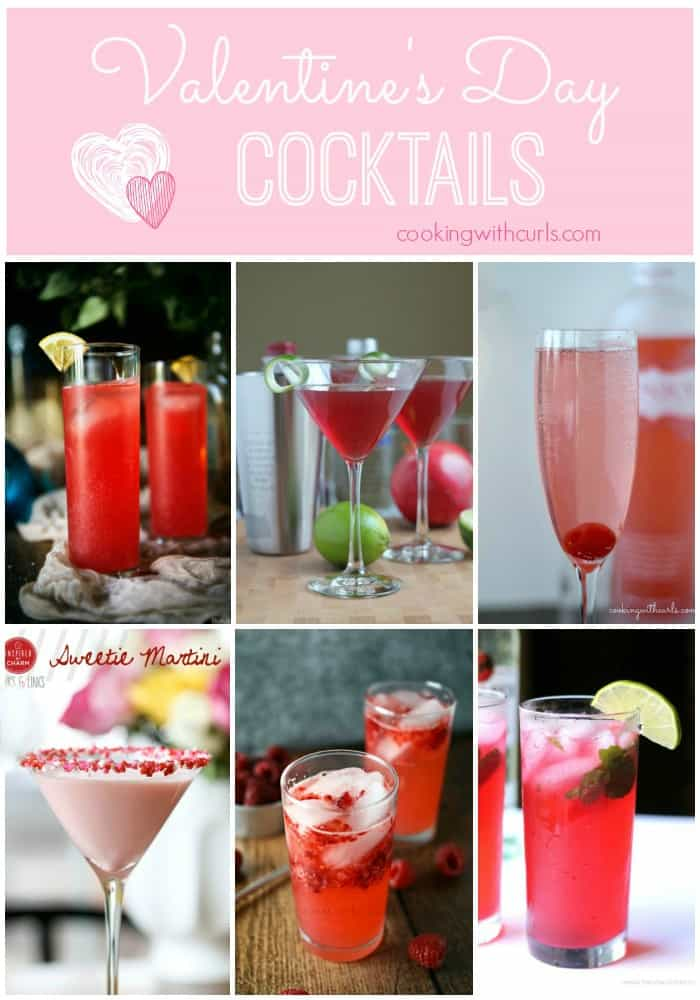 A collection of Valentine's Day Cocktails that are perfect for any Valentine's Day celebration | cookingwithcurls.com