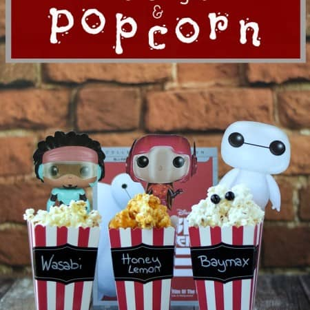Movie Night with lots of Popcorn Flavors