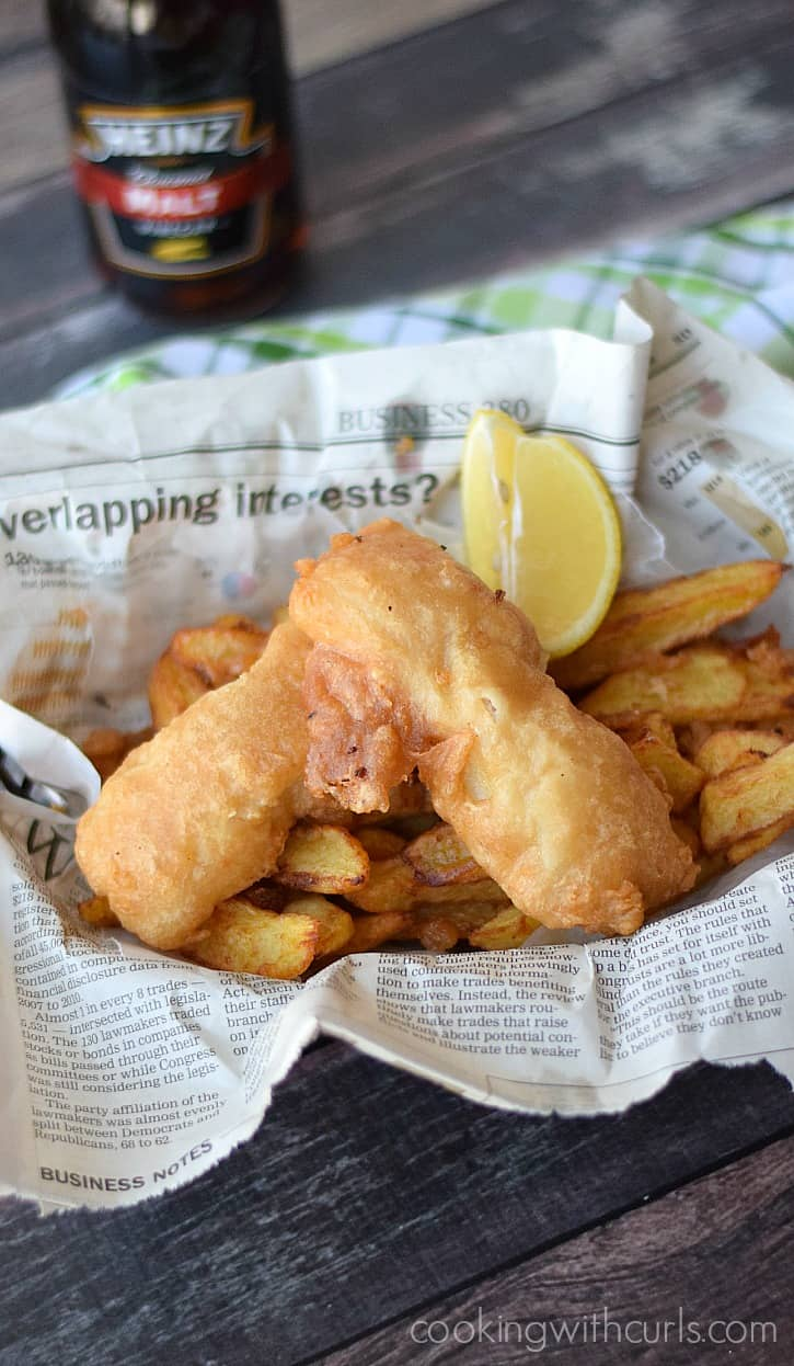 Beer Batter Fish and Chips | cookingwithcurls.com