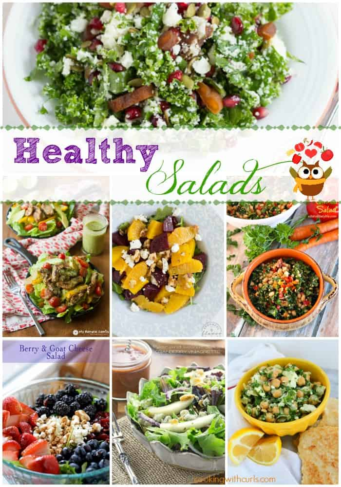Best of the Weekend Healthy Salads Features | cookingwithcurls.com