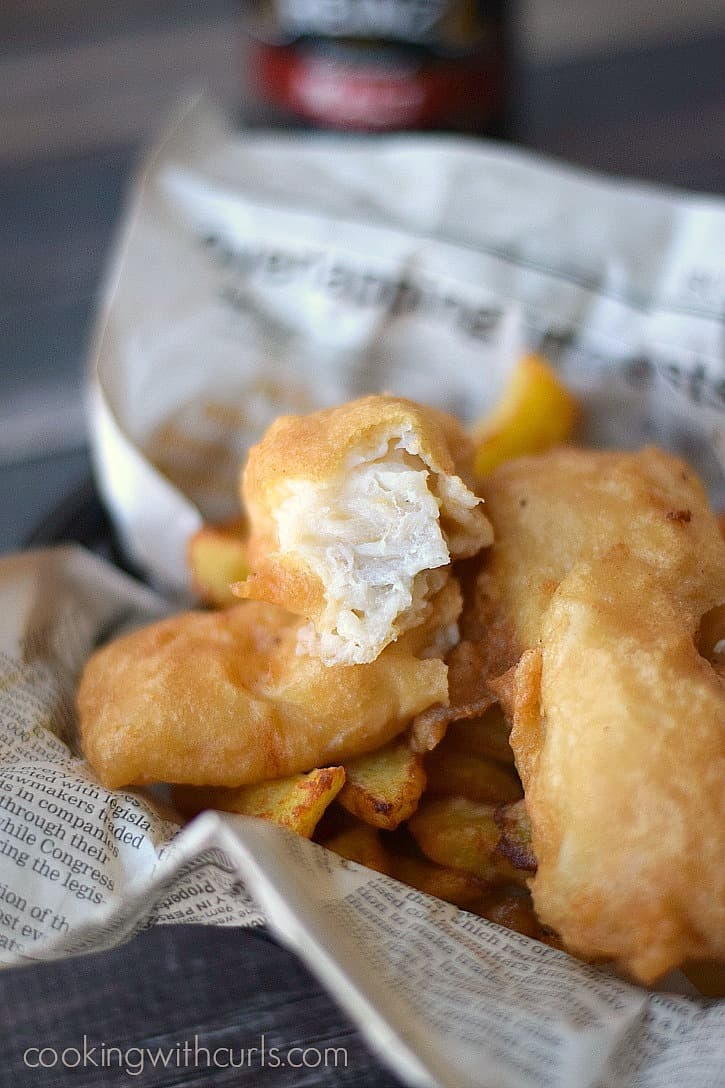 Crispy Beer Batter Fish served with Homemade French Fries | cookingwithcurls.com_