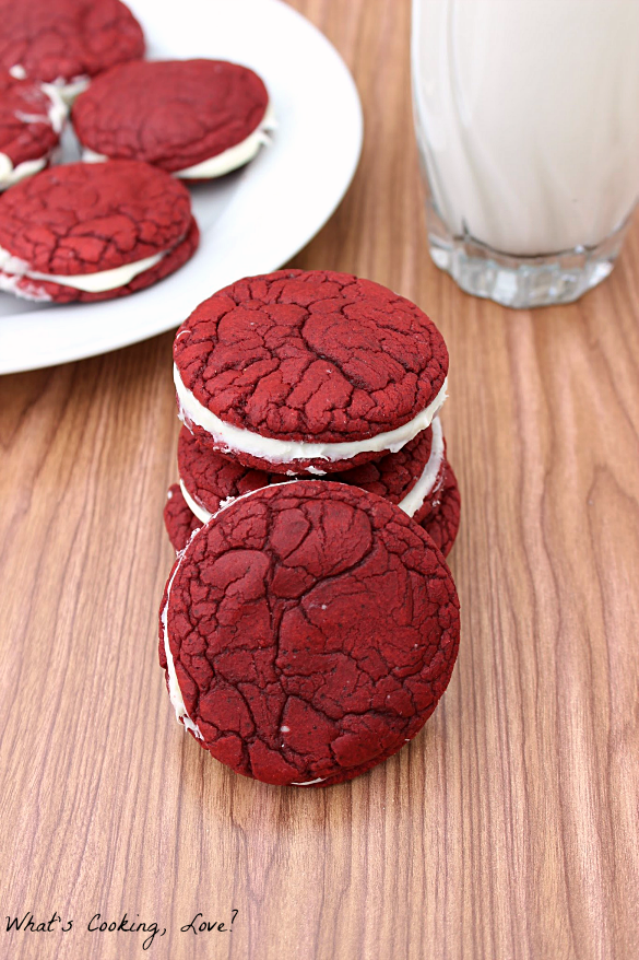 Red Velvet Sandwich Cookies6