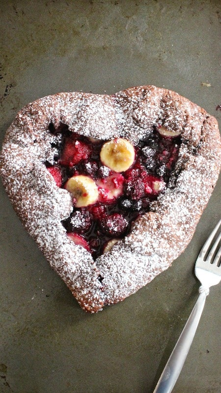 Rustic banana berry galette 450