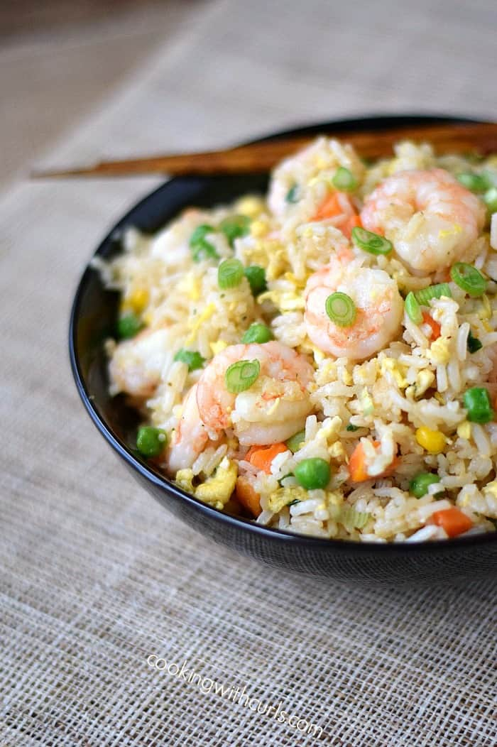 Shrimp Fried Rice is easy to make and tastes better than take-out cookingwithcurls.com