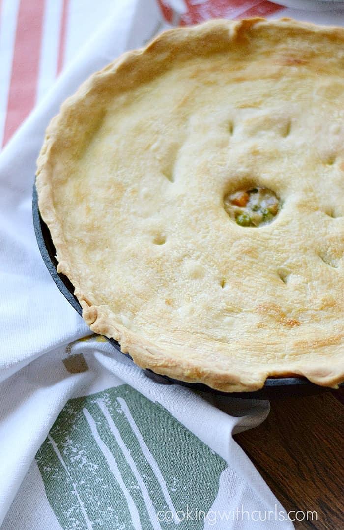 Skillet Chicken Pot Pie   cookingwithcurls.com