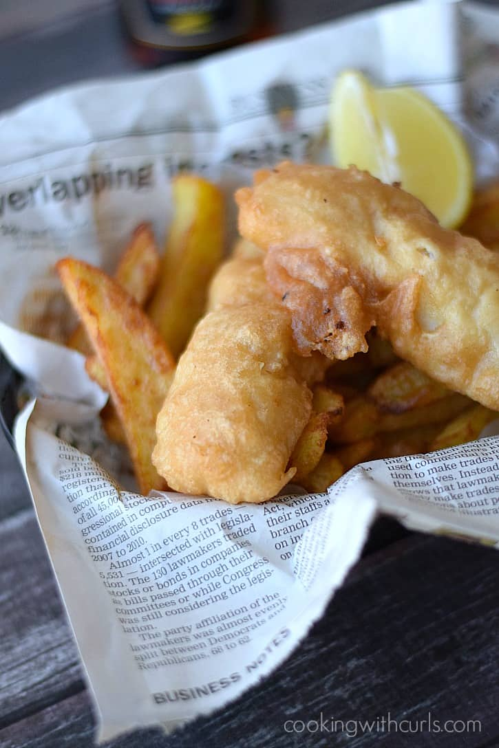 Beer batter fish cooking with curls for Fish and chips batter recipe