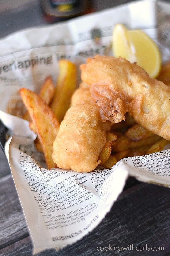 Traditional-style Beer Batter Fish and Chips | cookingwithcurls.com_