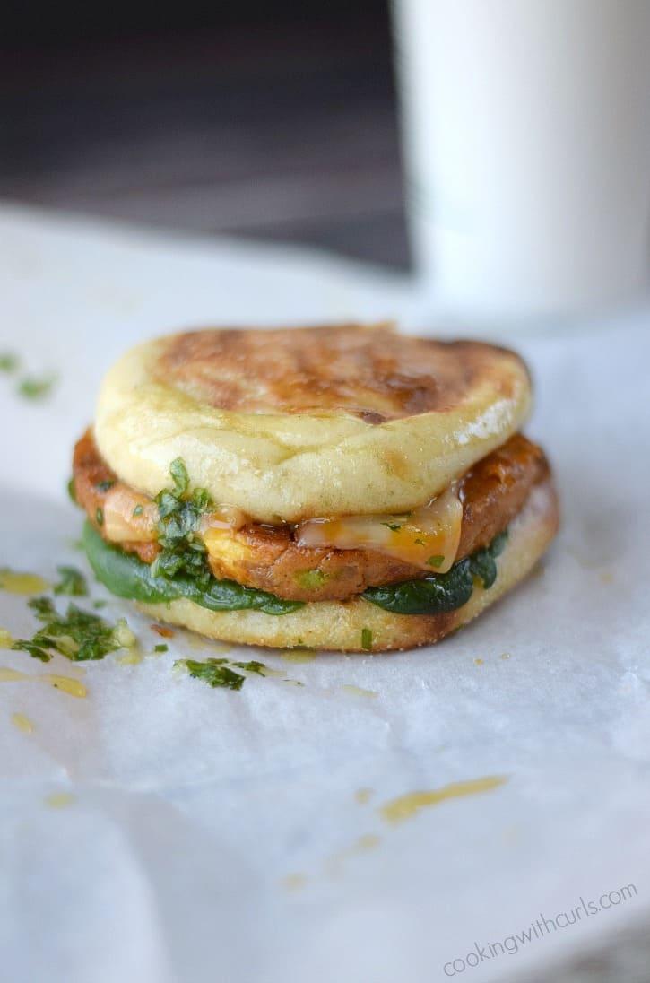 BOCA Essentials Breakfast Scramble Sandwich | cookingwithcurls.com #bocaessentials #CleverGirls