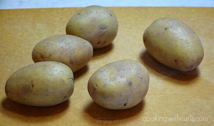 Baked Potato Wedges Yukon cookingwithcurls.com