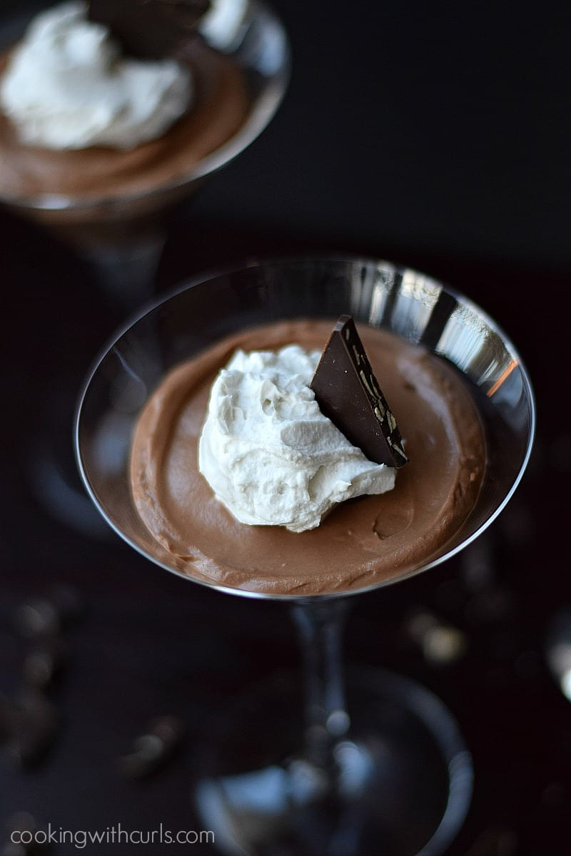 Chocolate Martini Mousse by cookingwithcurls.com