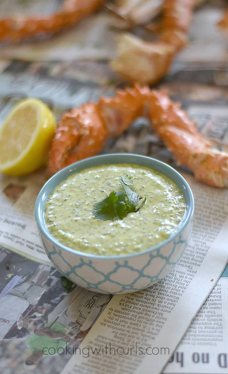 Creamy Cilantro Lime Dipping Sauce and Dressing | cookingwithcurls.com