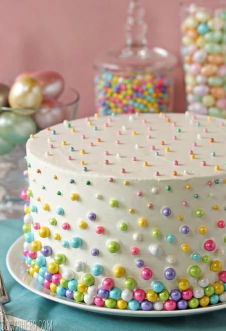 Easter Polka Dot Cake450