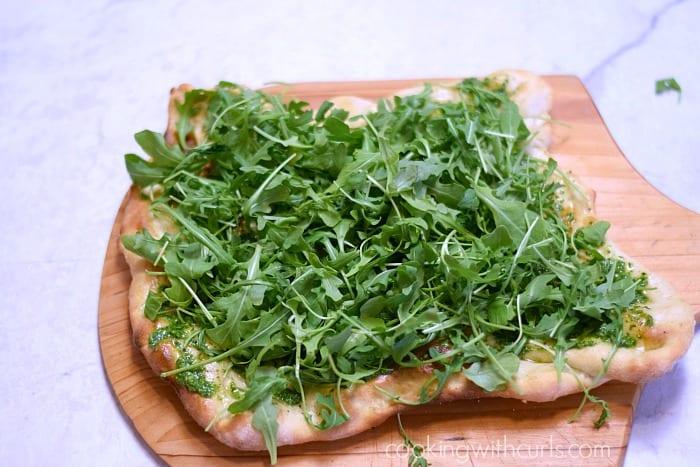 Greens Pizza arugula cookingwithcurls.com