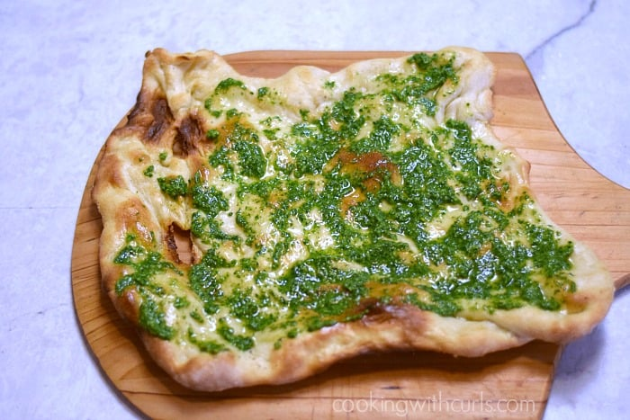 Greens Pizza pesto cookingwithcurls.com