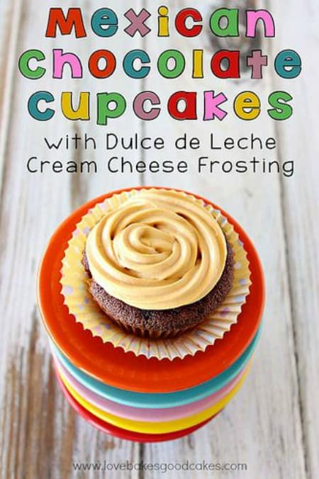 Mexican Chocolate Cupcakes with Dulce de Leche Cream Cheese Frosting450