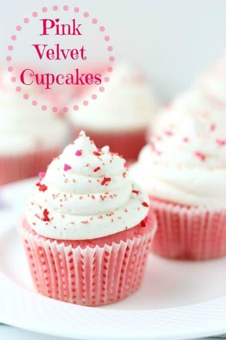 Pink Velvet Cupcakes450