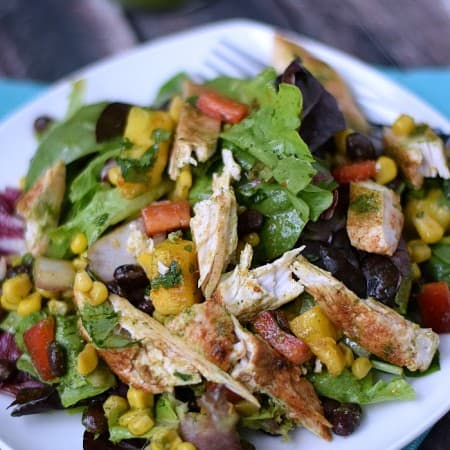 Southwest Chicken Salad w Cilantro Lime Dressing cookingwithcurls.com