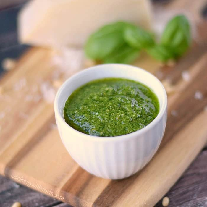 Traditional Basil Pesto ready to be used! cookingwithcurls.com