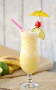 Frozen Banana Daiquiri - a taste of the tropics! cookingwithcurls.com