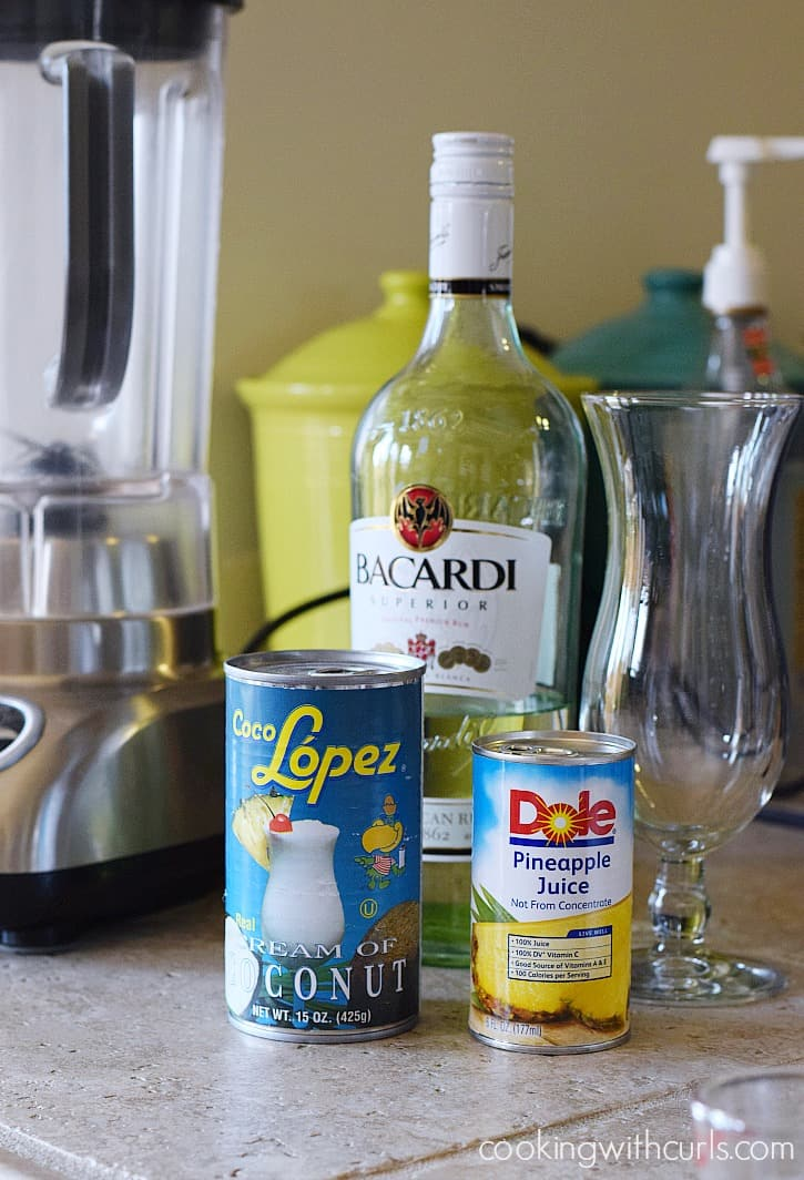 Classic Piña Colada ingredients cookingwithcurls.com
