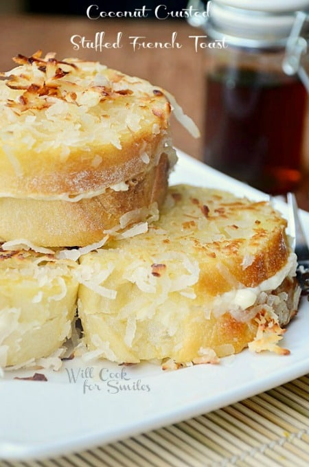 Coconut-Stuffed-French-Toast-2-willcookforsmiles.com_450