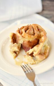 Fluffy, delicious Maple Bacon Cinnamon Rolls! cookingwithcurls.com