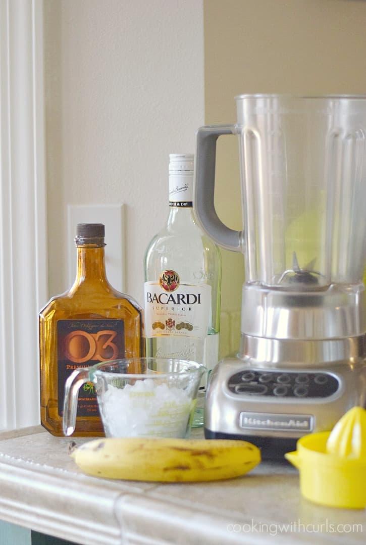 Frozen Banana Daiquiri ingredients cookingwithcurls.com