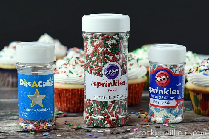 Homemade Funfetti Cupcakes Sprinkles | cookingwithcurls.com