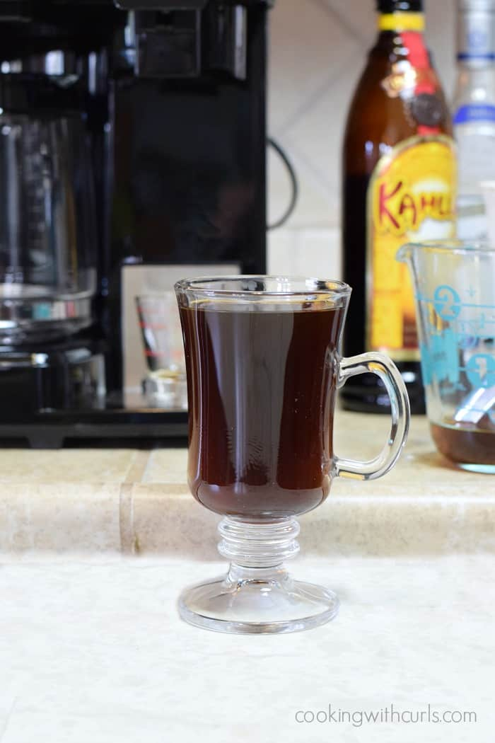 Mexican Coffee Cocktail glass cookingwithcurls.com