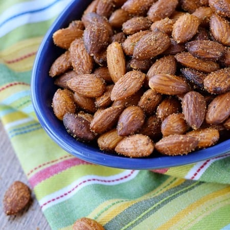 Sweet & Spicy Almonds for all of your snacking needs   cookingwithcurls.com