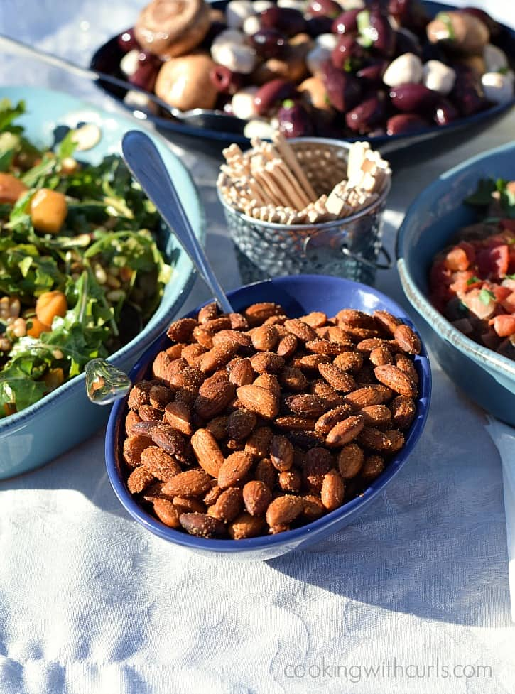Tapas Party with Sweet & Spicy Almonds | cookingwithcurls.com