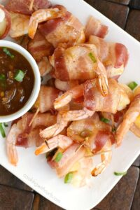 Teriyaki Bacon Wrapped Shrimp the perfect appetizer for your next party.