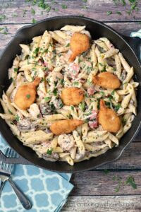 Creamy and delicious Double Shrimp Pasta! cookingwithcurls.com