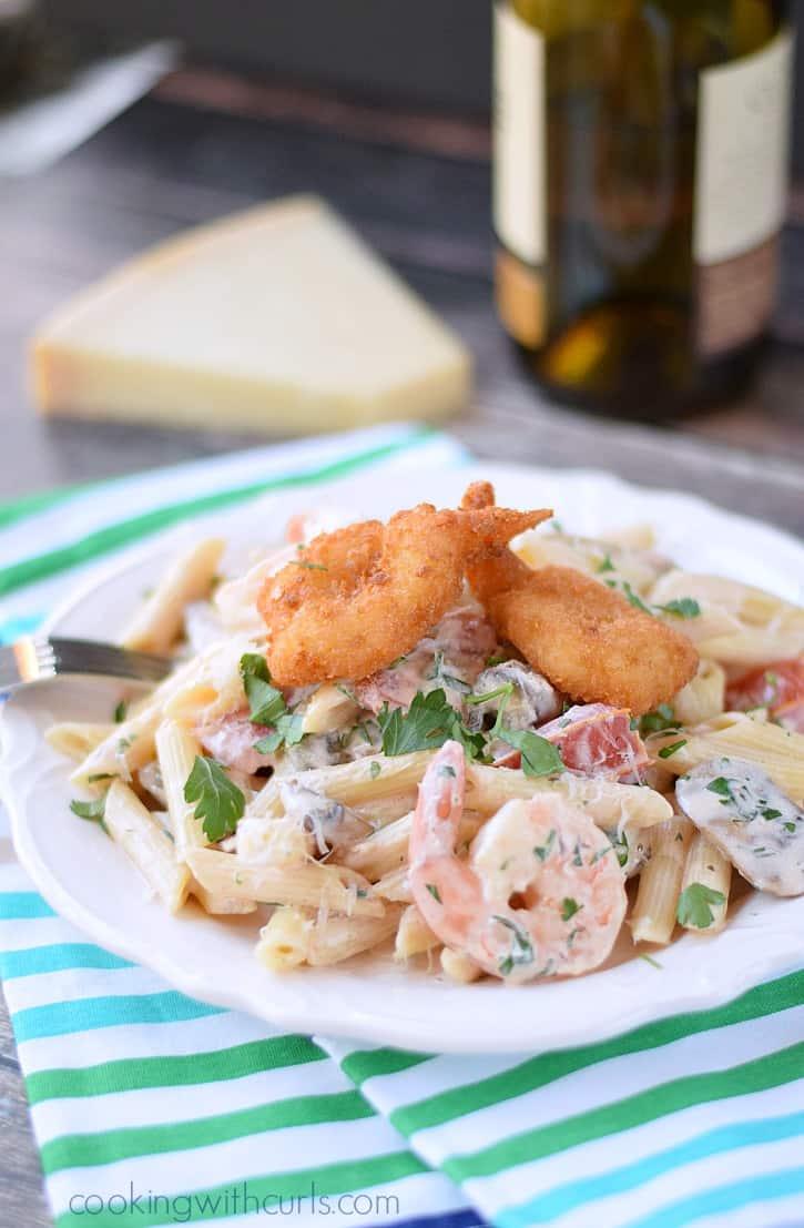 Double Shrimp Pasta | cookingwithcurls.com