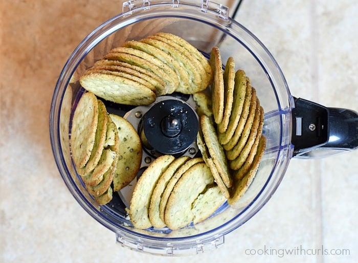 Gluten-free Eggplant Parmesan crackers cookingwithcurls.com