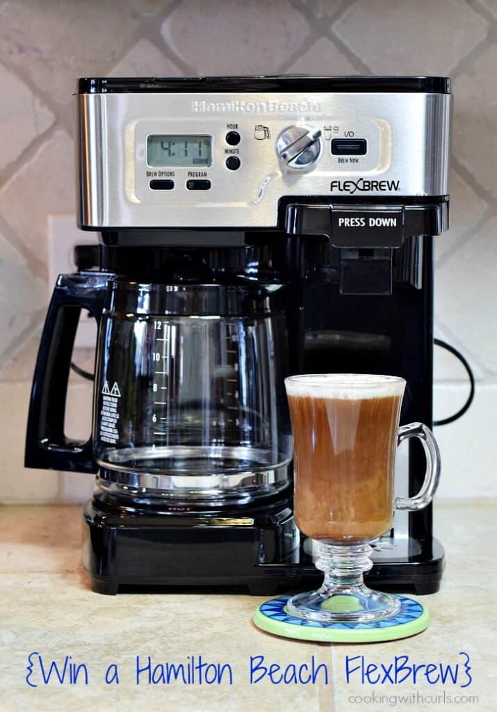Mexican Coffee Cocktail and Hamilton Beach 2-Way FlexBrew Coffeemaker | cookingwithcurls.com #FlexBrew #HamiltonBeach