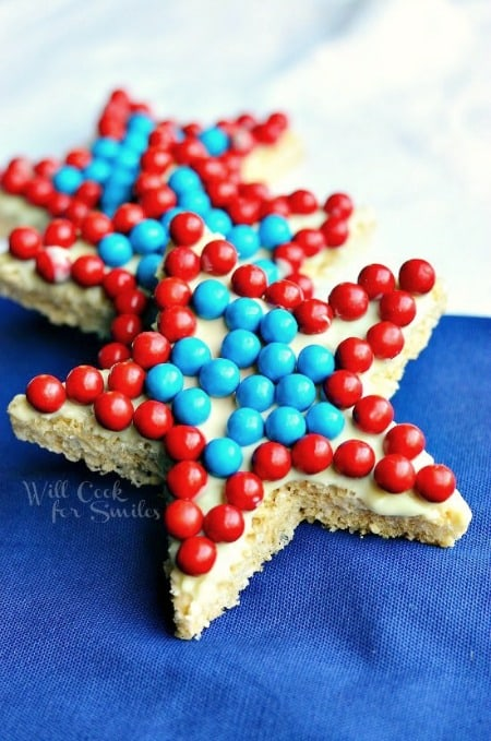 Red White and Blue Rice Krispie Stars450