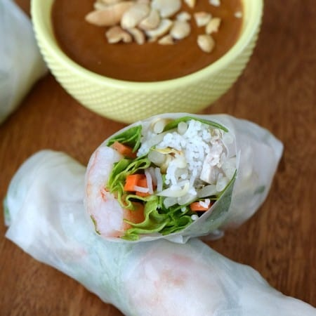Vietnamese Spring Rolls with Peanut Sauce   cookingwithcurls.com