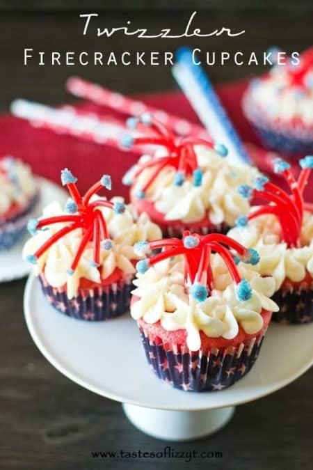 Twizzler Firecracker Cupcakes450