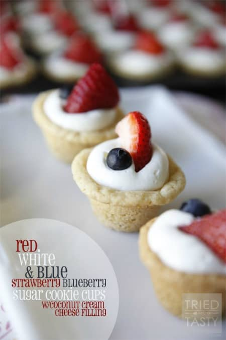 red white and blue strawberry blueberry sugar cookie cups450