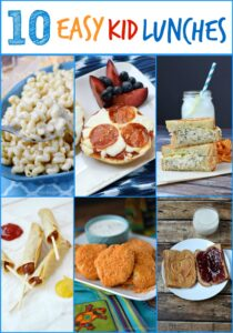 10 Easy Kid Lunches collage
