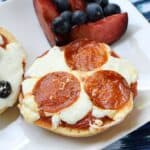 Bagel Pizzas make a quick and easy lunch cookingwithcurls.com