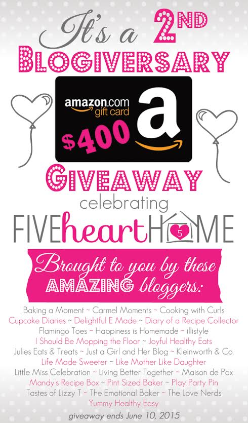 FiveHeartHome Giveaway Graphic