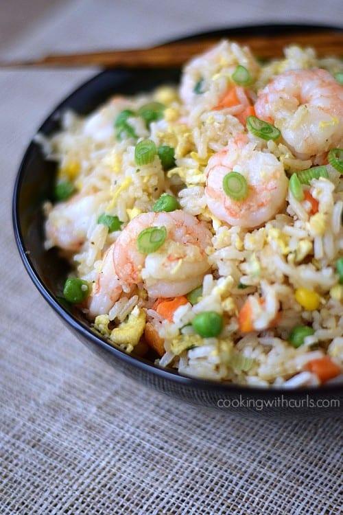 Shrimp Fried Rice | cookingwithcurls.com