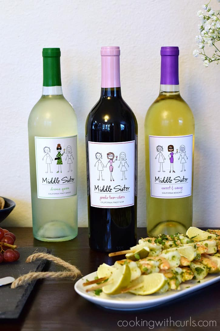 Celebrate Sisterhood with Middle Sister Wine | cookingwithcurls.com #MiddleSister #DropsofWisdom