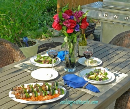 Greek Lamb and Vegetable Kabobs